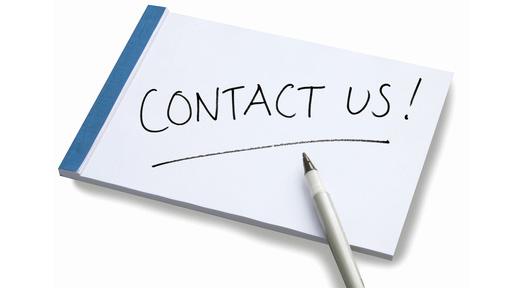Reminder: Contact Us